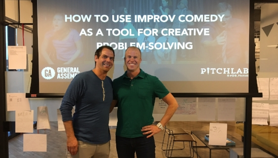 huge thanks to joel & RJ for making improv magic