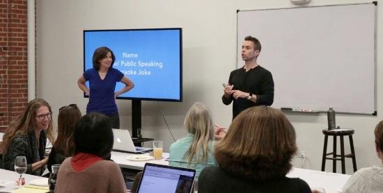Nancy Norton & Jay Mays Kicking Off Comedy Karaoke @ Women Who Startup HQ