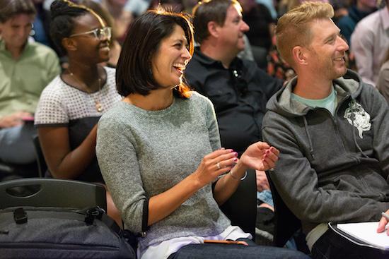 Pitch Lab Denver Startup Week Crowd Laughter 2018