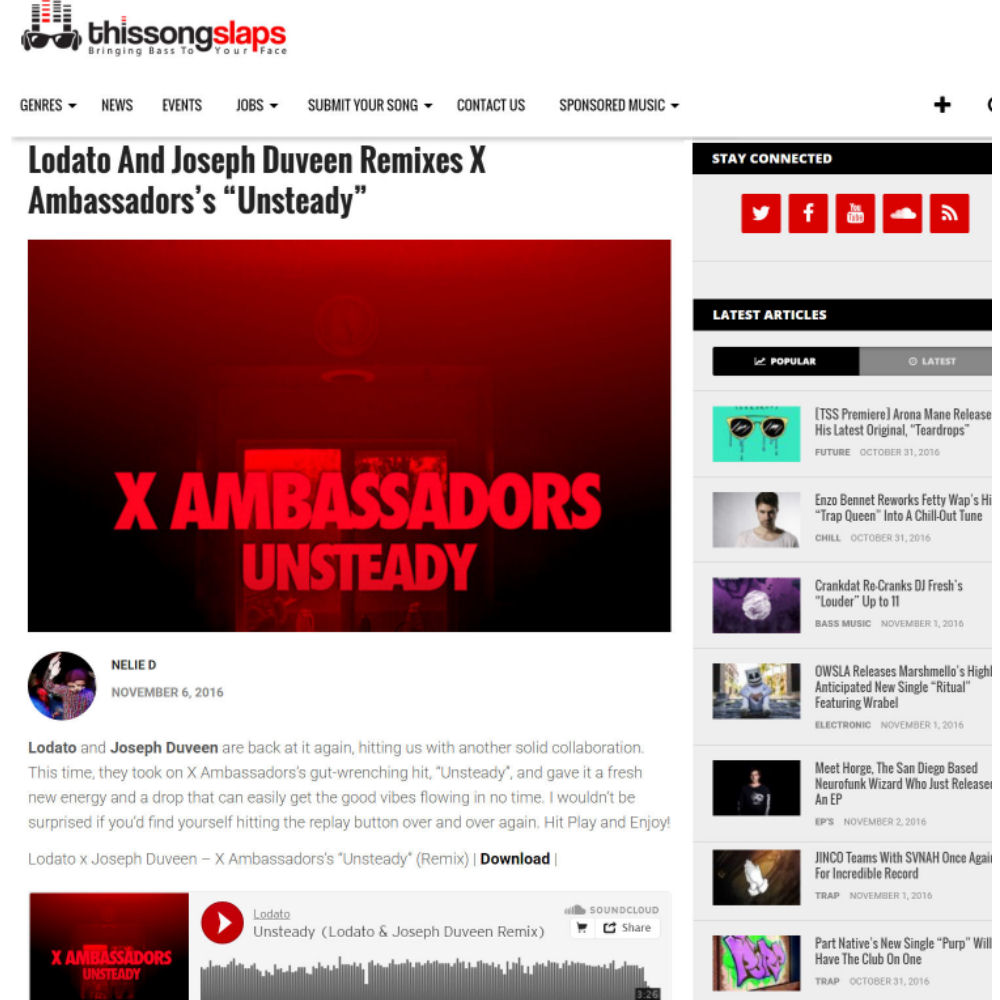 Official Unsteady Remix