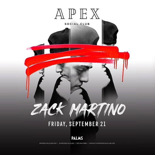 Check out @zackmartino make his Las Vegas debut this Friday night!!🔥🔥 gonna be a lit night that you won't wanna miss!!🙌🏼 #edm #lasvegas #dj #producer #friday #night