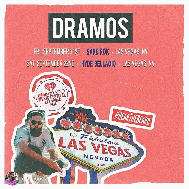 #repost @djdramos - VEGAS I'm coming for you this weekend! Beyond excited to be a part of this years @iheartfestival . Hit me up if you're gonna be in town! #HearTheBeard • • • • • • • • • • #lasvegas #lasvegasnightlife #radio #vintagestyle #beardstyles