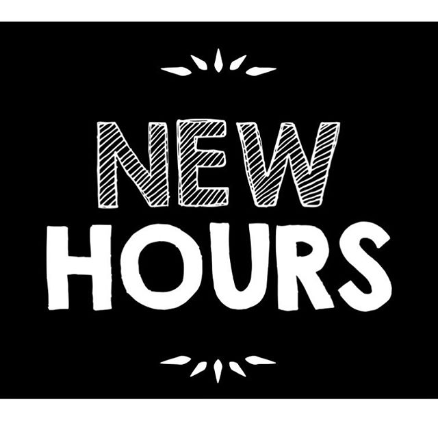 Shoulder Season Hours in effect April 14th! Monday-Friday 10am-7pm, Saturday 11am-5am, Sunday 11am-3pm.