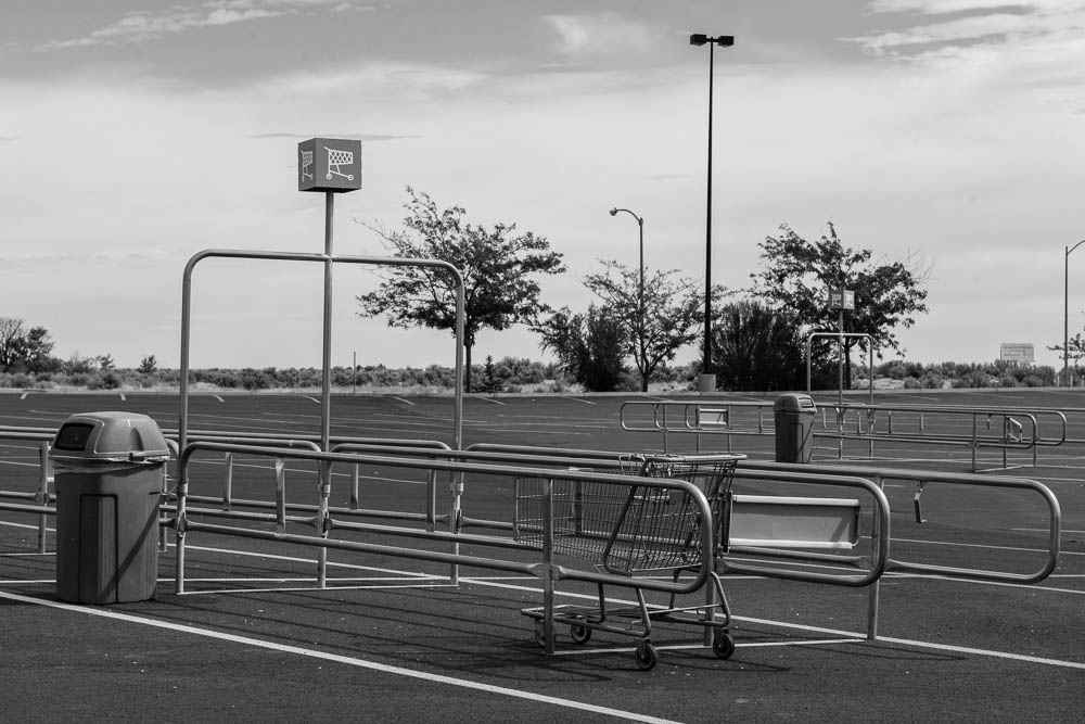 For many years, Julie lived in a remote community in eastern Washington. But it was a big enough place for Walmart to have a store. The parking lot of the Walmart where Julie walked out with $750-plus dollars worth of goods is almost empty.