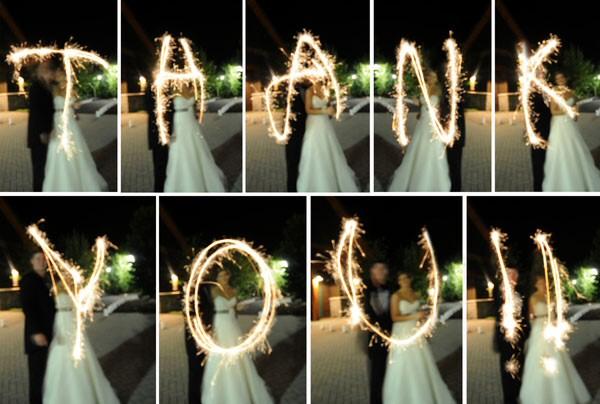 Wedding thank you sparkle card