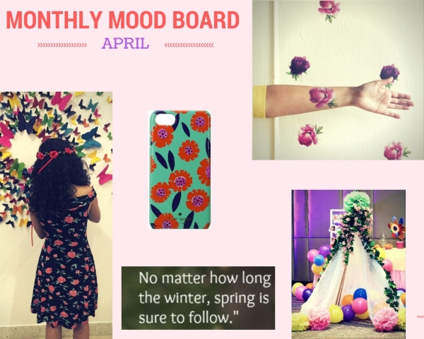 Monthly Mood Board - April