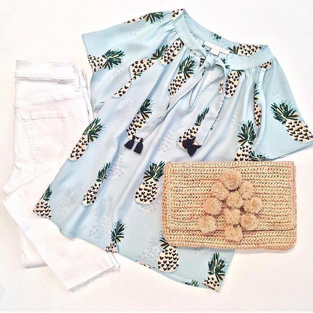 🍍Pineapple Perfect🍍#cooperandella #pineapple #pineappleprint #ootd #ootdfashion #springfashion 📸 @roweboutique
