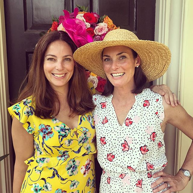 The derby might be over but this yellow dress is definitely not! Our founder @kara_mendelsohn is ready to have fun all@summer in this dress! 💛 #cooperandella #derby #yellowdress #florals #springfashion