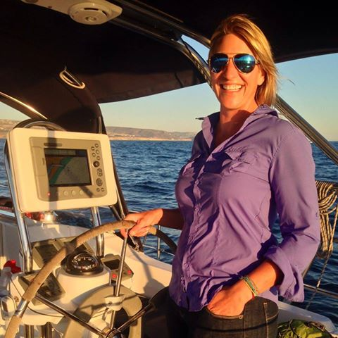 Genevieve at the helm! -