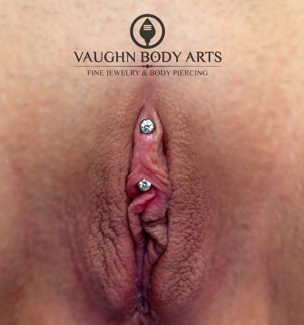 VCH piercing with titanium jewelry from Anatometal.