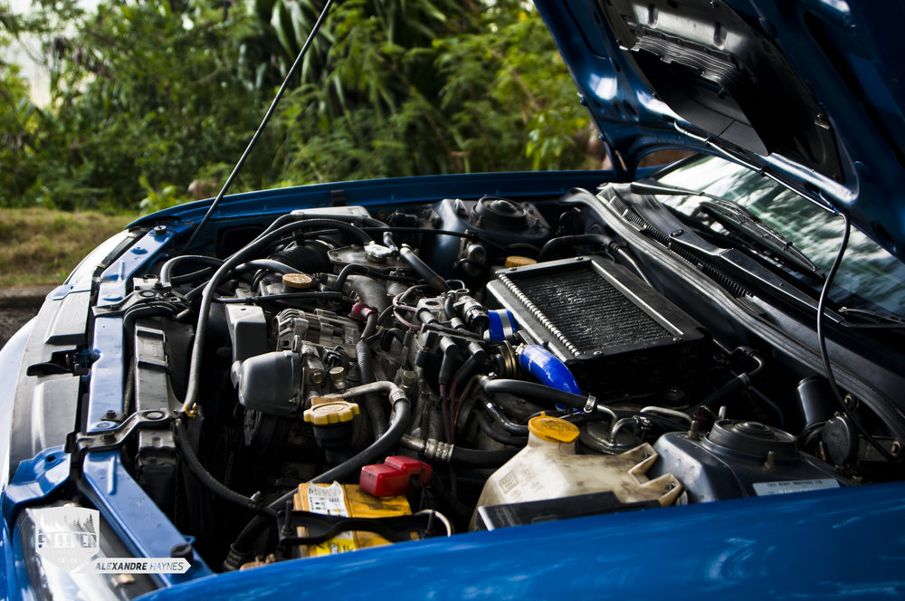 Engine Bay GC8 WRX