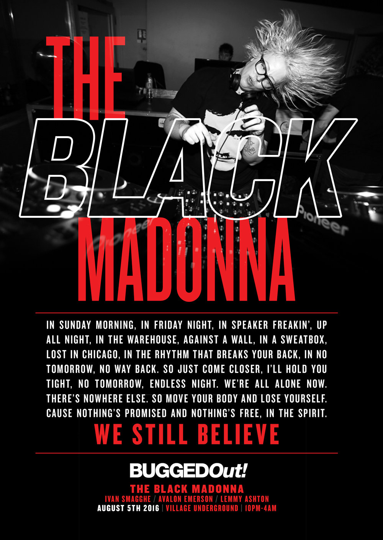 Poster design for The Black Madonna