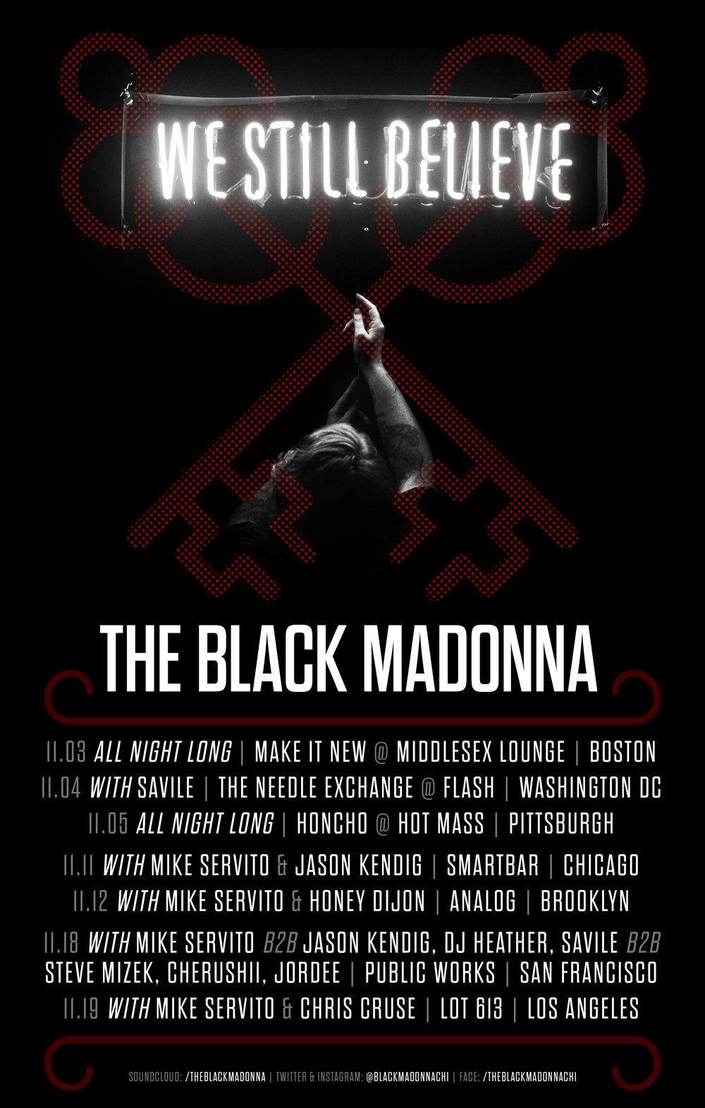 Tour Poster for The Black Madonna