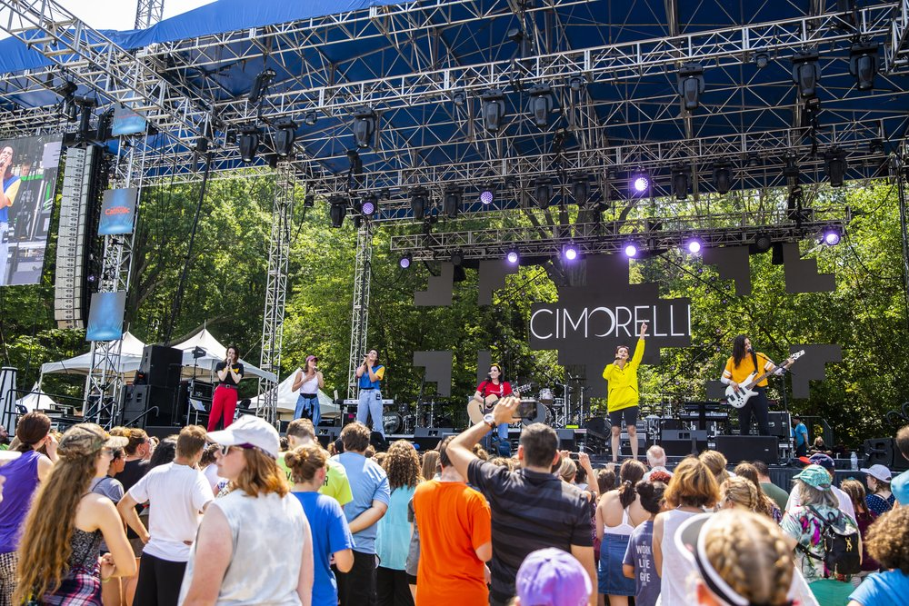 Photo of the crowd during Cimorelli's performance at  The FEST!