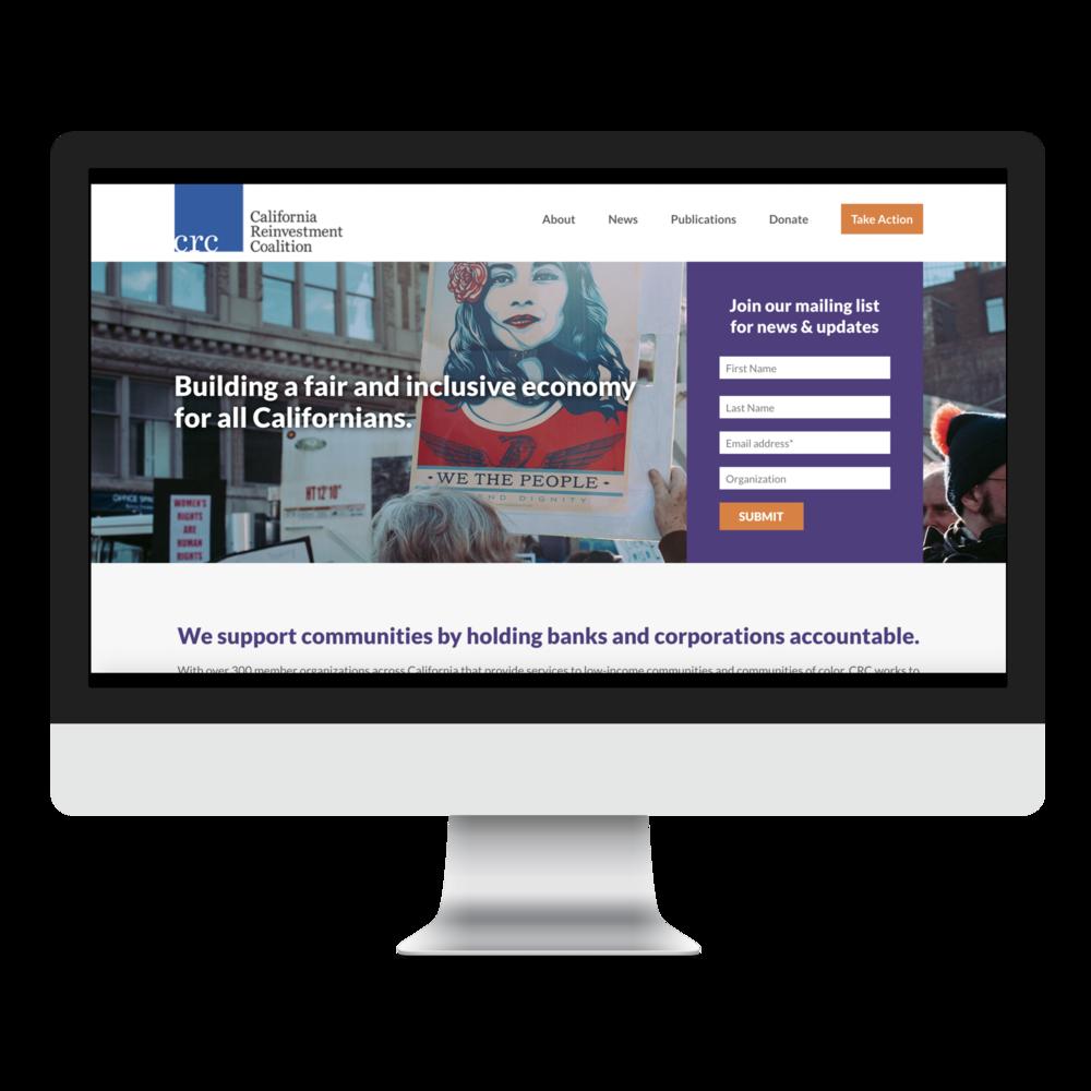New website design CRC