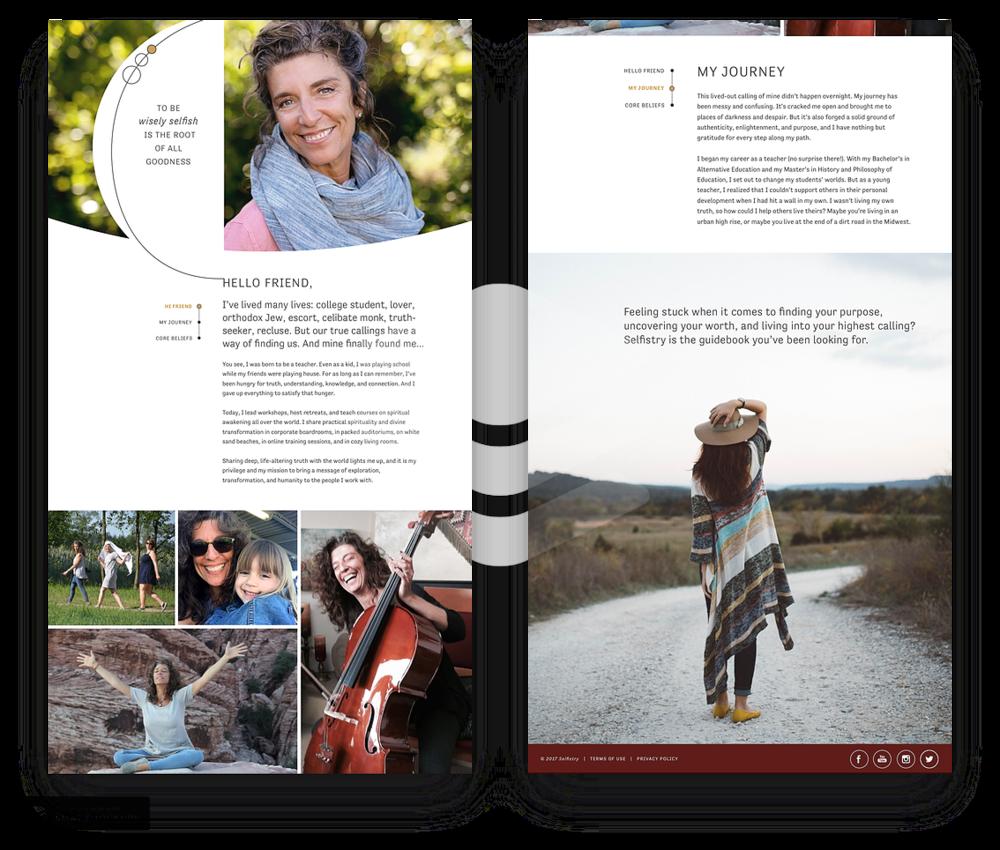Selfistry Website Redesign