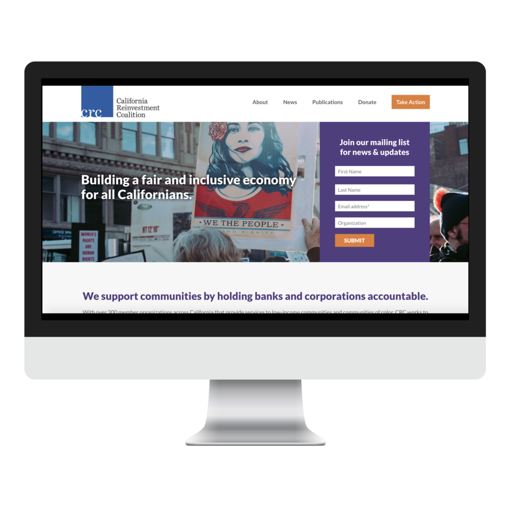 California Reinvestment Coalition - Modern design and streamlined site structure create dramatic improvements for a robust website.See the remodel →