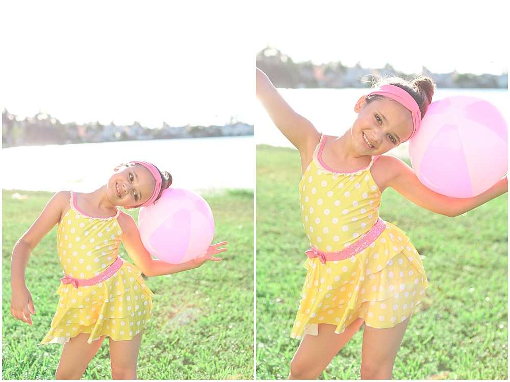 This free spirit wanted to show off her 60s inspired dance costume and proceeded to run around and play with her beach ball!