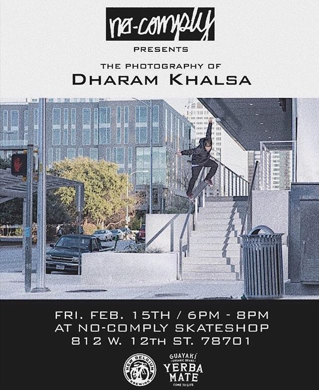 Tonight - Come peep @dharamkhalsa photo show. Serving til 8! 🤙🏻