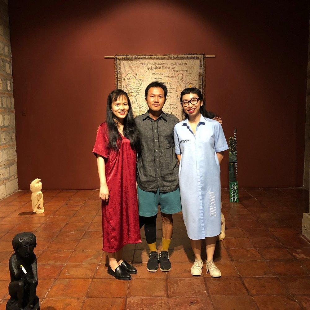 From left to right: Thao-Nguyen Phan, Trương Công Tùng, and Arlette Quynh-Anh Tran.