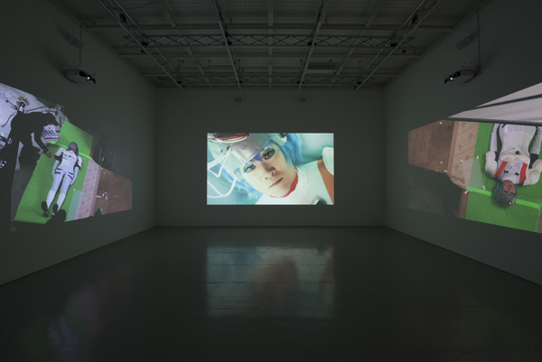 Me in Me (video installation, photo grabbed from  here.