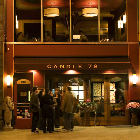 The Candle 79 townhouse facade, with photograph courtesy of Candle 79
