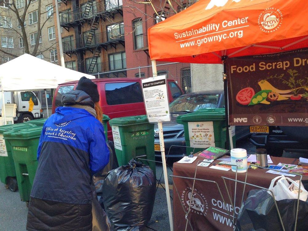 Look for the Orange Sustainability Center umbrella!