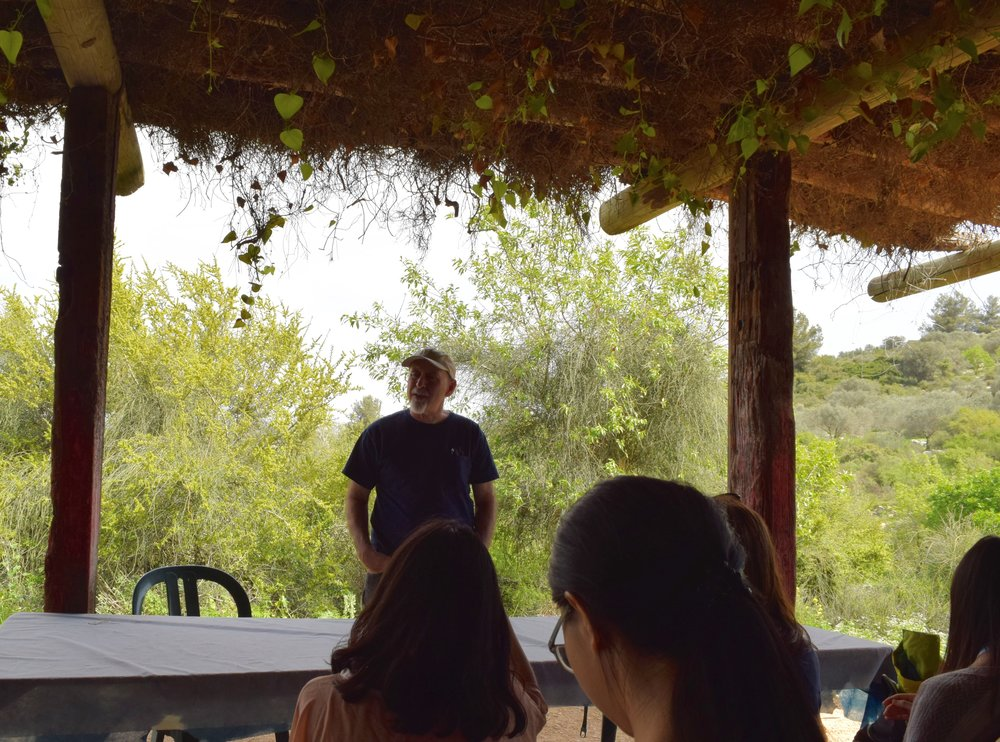 Alon Tal speaking to the SIPA Environmental Leadership Delegation. Photo by Savannah Miller.