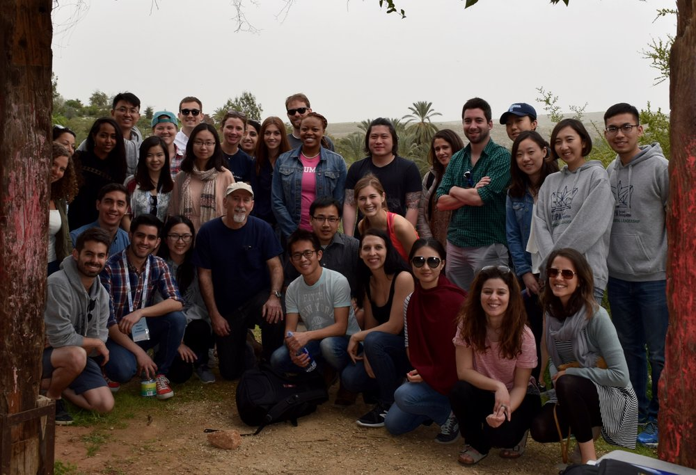 SIPA Delegation with Alon Tal. Photo by Savannah Miller.