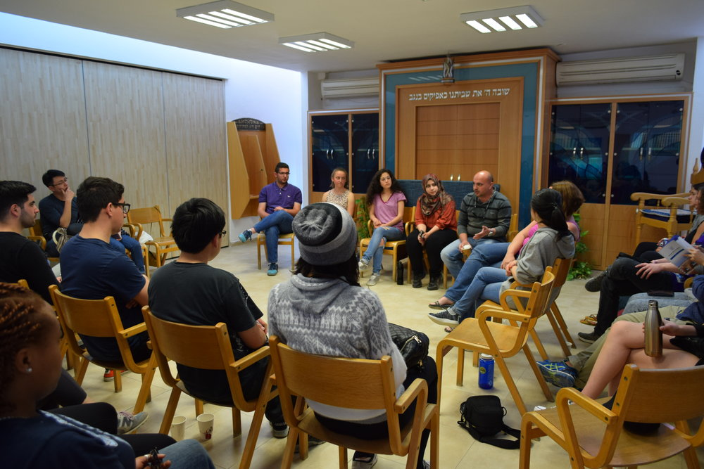 Arava graduate representatives from Jordan, Palestine, and Israel offer their insights. Photo by Savannah Miller.