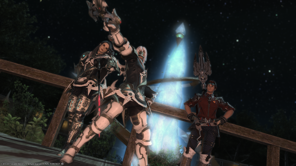 From Left to Right: Arya Svitkona, Kirfang Freytair, and Sewlyn Stryke (Sharod)