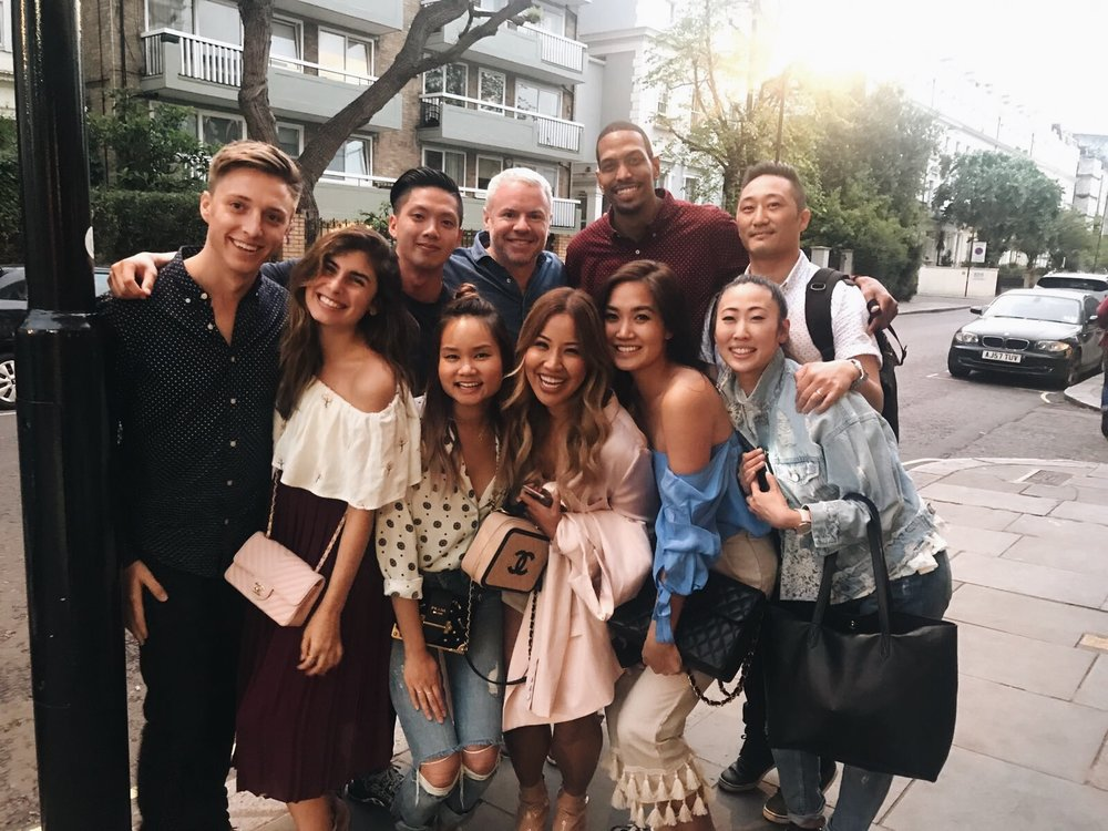 Here is the full group of us with all of our Insta-hubbies! Rare! As they're always behind the camera being super paparazzi haha! These are the guys that make the magic happen! Love all of these people! They made London so much fun!  (@mitchmacsween, @ave.camilla, @ptran.sss, @thelustlistt, @mister_gunner, @miss_gunner, @donowonge, ME, @lawrenceahn, @thatsotee)