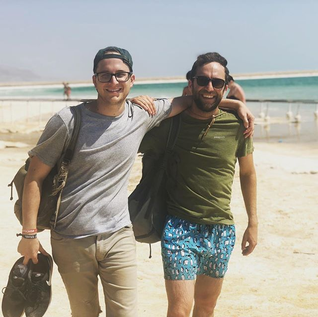 Chilling at the #deadsea. Thanks for all the amazing memories #bus587 !  #Israel #travel #taglit #shorashim #shorashim_bus587 #candid
