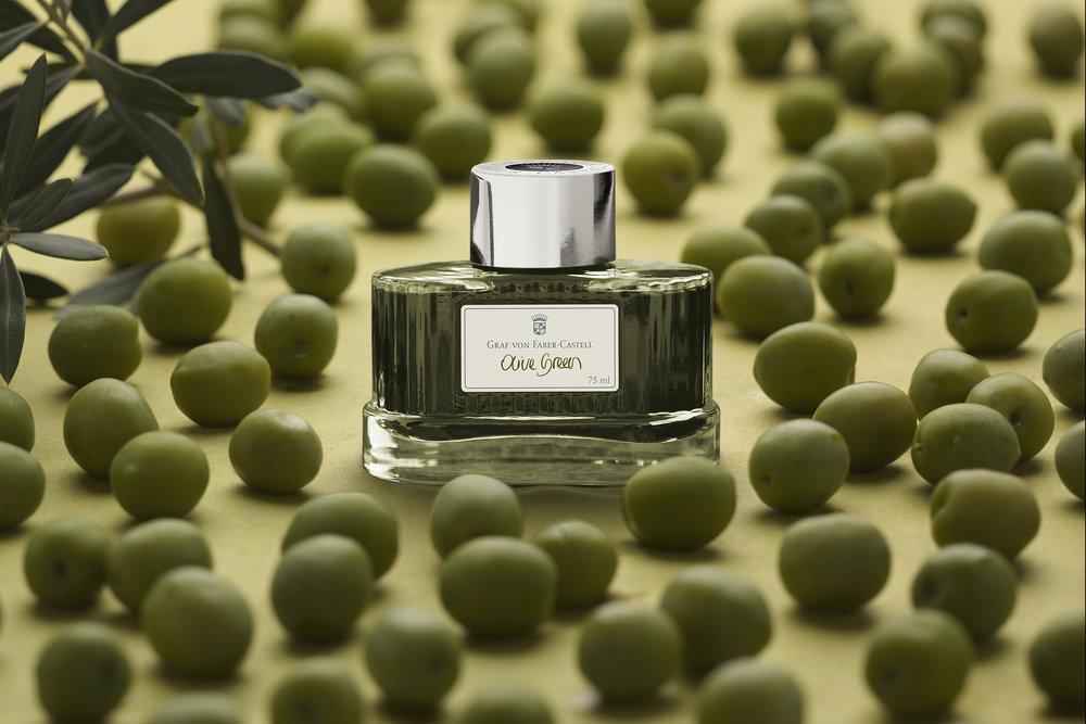 Olive Green Ink Bottle - Graf von Faber-Castell