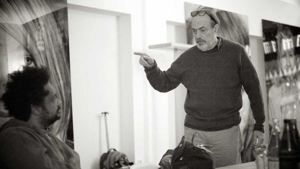 Jeg har mange inspirationskilder. Bl.a. Jan Grarup, Henri Cartier-Bresson, Elliott Erwitt og Bruce Gilden, som jeg her var til workshop med i Hamborg tilbage i 2015.