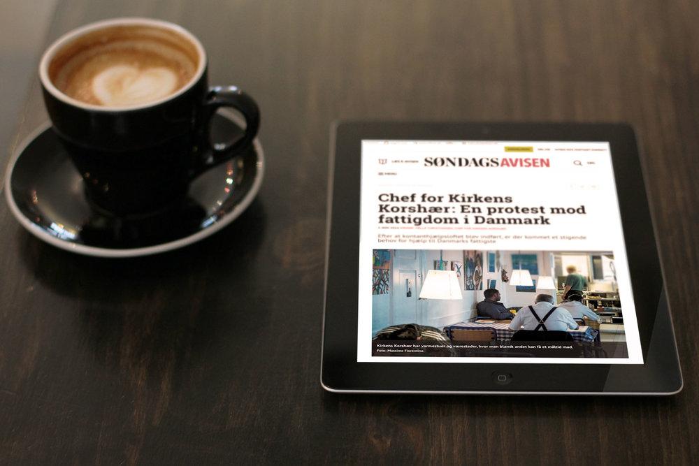 """Image used for  an article in """"Søndagsavisen""""  talking about  Kirkens Korshær  3rd of November 2016"""