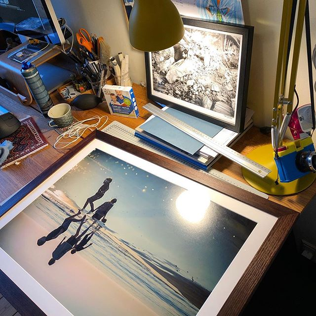 Feels good to have your work framed! (the one in the back is not my work btw but one of Jan Grarup's images)