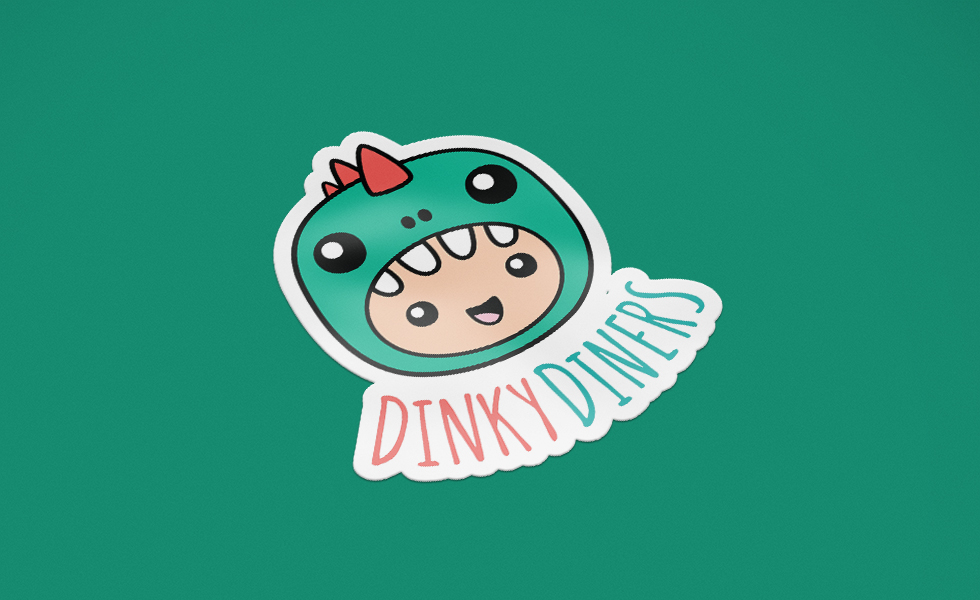 Dinky Diners logo sticker