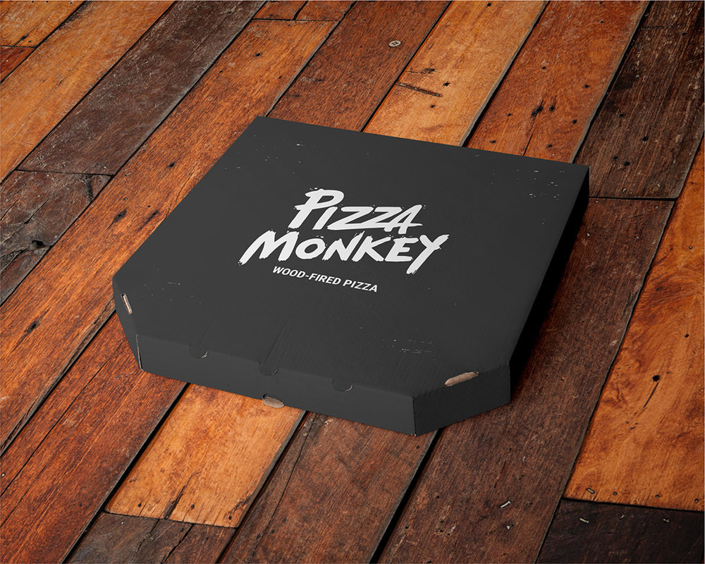 Pizza Monkey Pizza Box concept