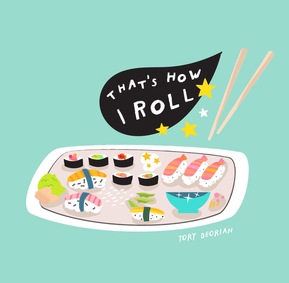 sushi illustration tory deorian