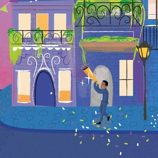 New Orleans Illustration 💕🎉See the full piece on my website under TRAVEL. 🙌🏻 #neworleansart #neworleans #lousiana #nola #colorful #kidlit #illustrator #freelanceillustrator #neworleansstyle #happysunday #jazz #cafedumonde