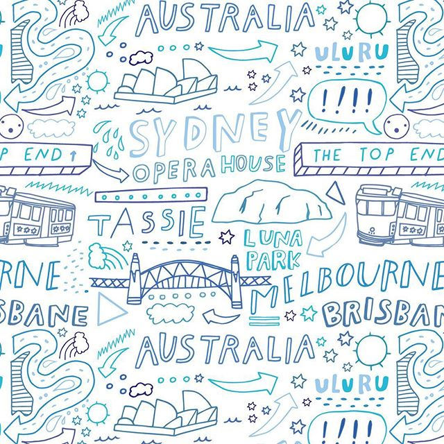 A repeat pattern I designed for @undiescoau Now available in their online shop! #undiesco 🙌🏻 #Australia #undies #pattern #fashion #melbourne #victoriaaustralia #urulu #sydney #losangeles #la #designer #illustrator #lettering #illustration #happyweekend #friday