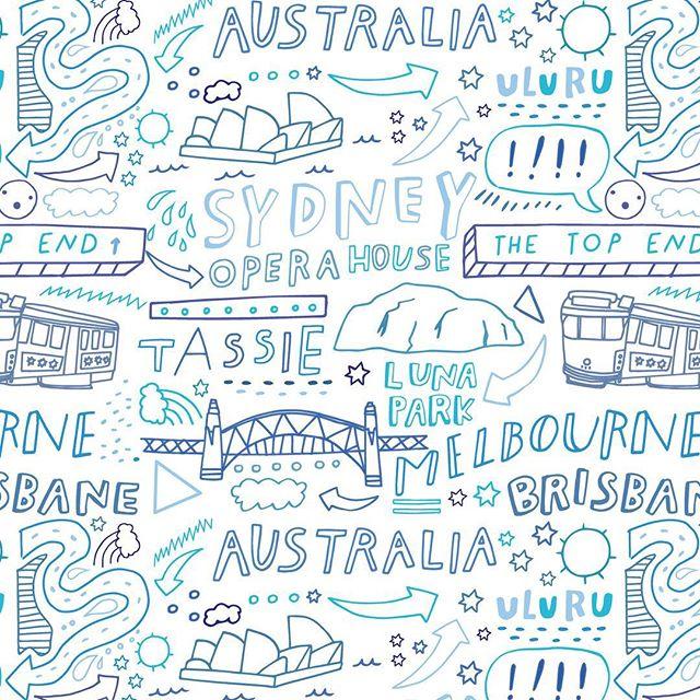 A repeat pattern I designed for @undiescoau Now available in their online shop! #undiesco 🙌🏻 #Australia #undies #pattern #fashion #melbourne #victoriaaustralia #urulu #sydney #losangeles #la #designer #illustrator #lettering #illustration #happyweekend #friday