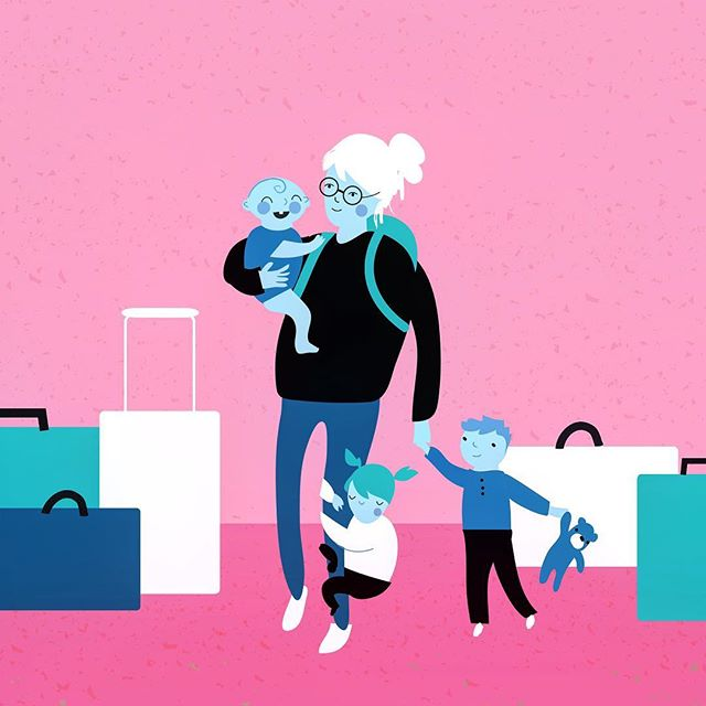 Another piece from my editorial series! More on my website. 😬🙌🏻✨✨✨ #editorialillustration #illustrator #california #losangeles #bayarea #sfo #oak #lax #editorial #pink #moms #momlife #artistsoninstagram #design #travel