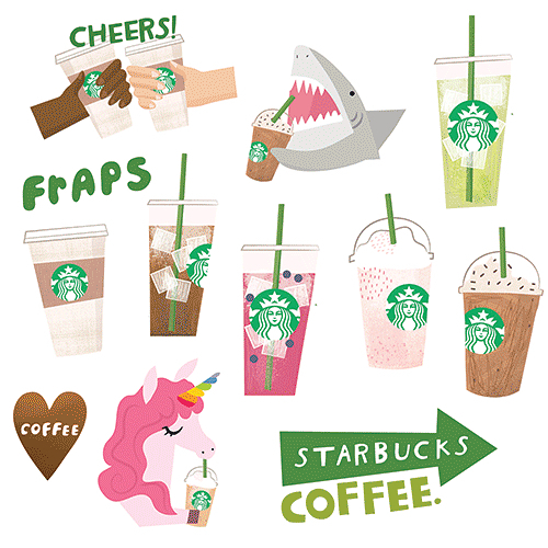 "EXCITING NEWS!!! My latest project for @starbucks - a sticker pack for iPhone- just went live in the App Store!!! 👏🏻👏🏻👏🏻👏🏻👏🏻👏🏻👏🏻👏🏻👏🏻👏🏻 Search ""starbucks stickers"" in the App Store to download them for free! ✨✍🏻💕 #starbucks #starbucksstickers #appstore #iphonestickers #illustrator #imessage #artistsoninstagram #freelanceillustrator #seattle #ilovestarbucks #losangeles #sanfrancisco #starbuckshq"