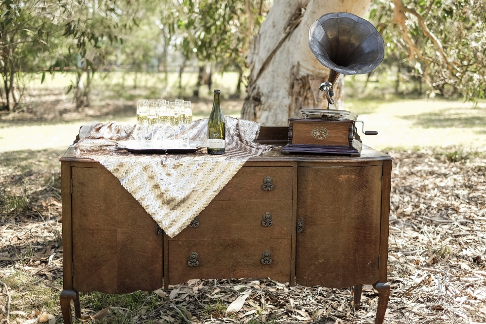 Gatsby Buffet    $180.00 +GST (3 Day Hire)  *Bar only Accessories not included, Photo by:  August Rain Collective