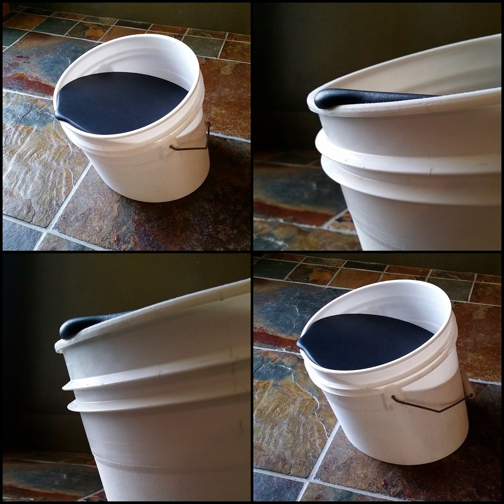 Viscous - bucket, honed black granite