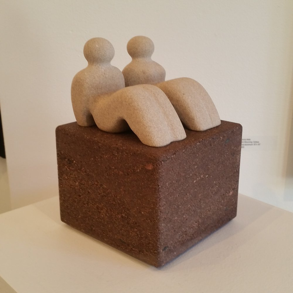 Beachgoers - limestone, brownstone