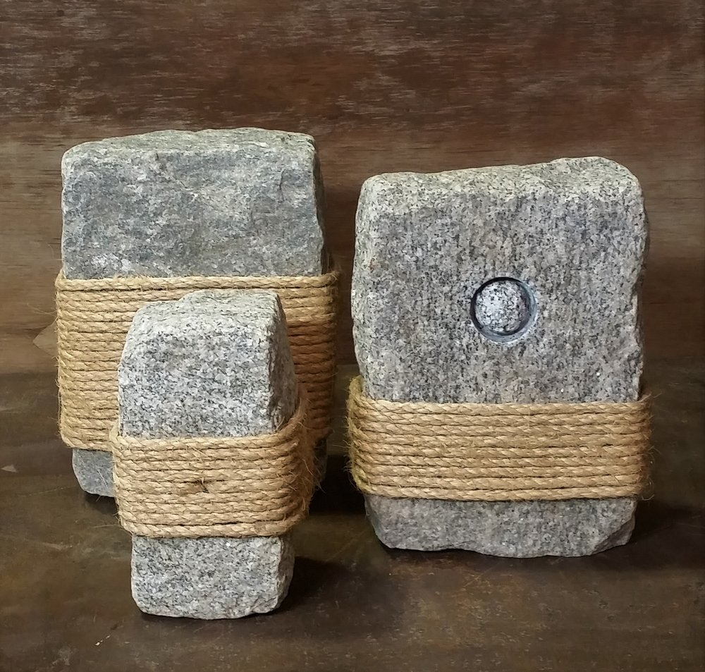 Bound Together - granite cobblestone, rope