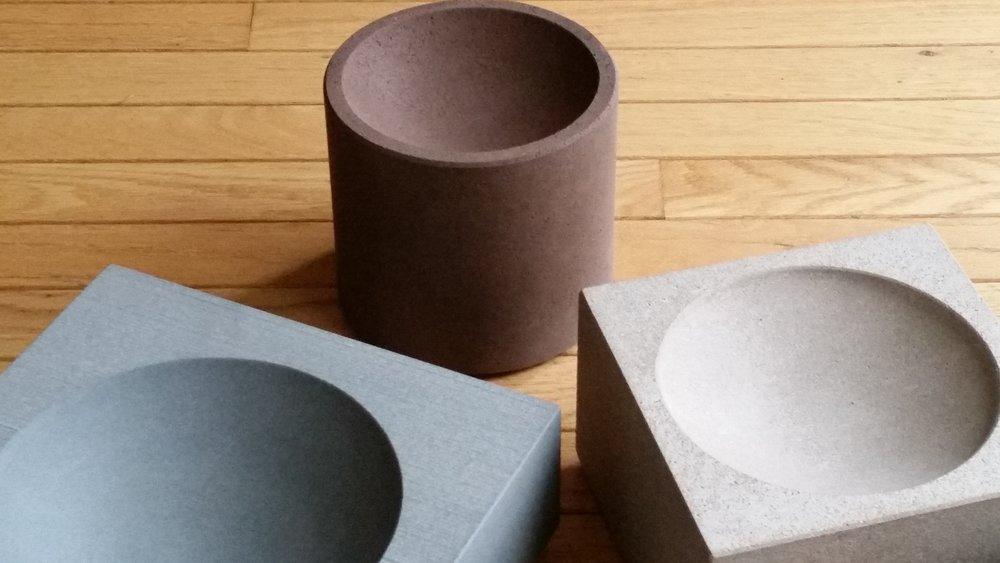stone bowls - various